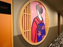 5F 日本文化イメージオブジェ(舞妓2)