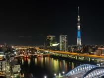 屋上からの景色<夜景時間>