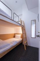 2段ベッドタイプの客室