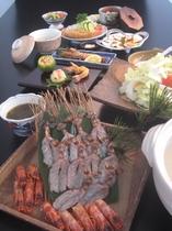 夕食例(姫島車えびしゃぶしゃぶ)