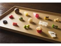 旬の加賀野菜などを使ったお料理の一例