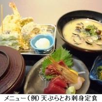 天ぷらとお刺身定食