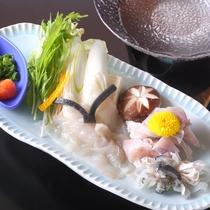 *【山海メイン料理チョイスプラン】<グレードアップ>ふぐちり鍋