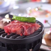 *【山海メイン料理チョイスプラン】国産牛焼き