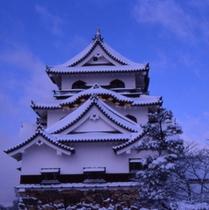 彦根城天守閣冬季