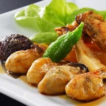 牡蠣のくわ焼 冬の別注料理