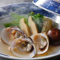蛤の酒蒸し 春の別注料理
