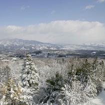雪景色をお部屋から