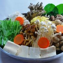 *野菜たっぷりしゃぶしゃぶ(一例)