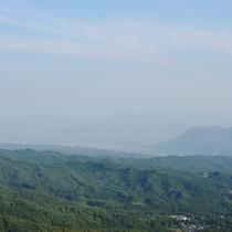 伊香保の展望台からの眺め