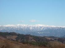 雪の三國連峰
