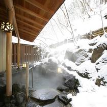 寒い日には雪見風呂もお楽しみいただけます