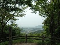 小谷城跡より琵琶湖を望む