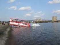 長浜の新たな観光体験「水陸両用バス」お子様も乗車出来ます。