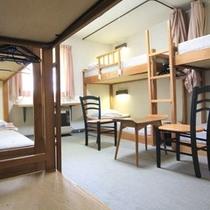 2段ベット6人部屋