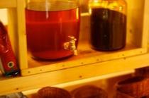 自家製梅酒とカリン酒