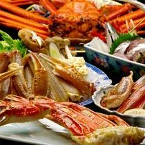 昼食・蟹コース