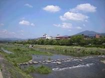 荒神橋から鴨川・比叡山