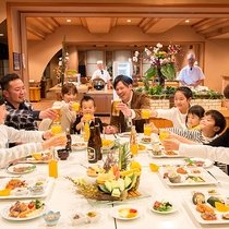 ◇夕食バイキング:ご家族で乾杯♪