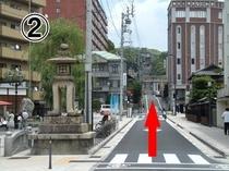 02横手に放生園メルパルクへ続く道