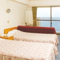 ◆洋室(ツインルーム)少人数でのご旅行にぜひどうぞ。