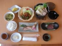 夕食和定食の一例