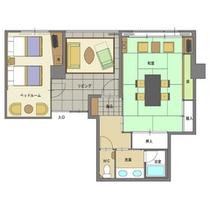 ■白雲新館 ベッドルーム付客室(ファミリールーム)