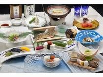 夏野菜漬物寿司と夏の湖畔会席