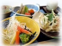 周桑産野菜たっぷりのヘルシー夕食