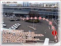 ホテル客室よりJR今治駅