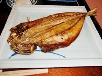 那珂湊の沖合でとれた特大鰺の干物!