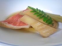 甘鯛と若筍の煮物 コース一例