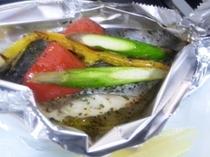 春野菜と鰆のバジル焼 コース一例