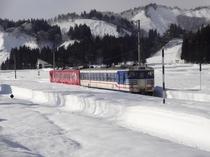 絶景ローカル只見線 冬景色 只見駅