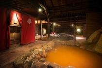 岩風呂【夜】