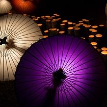 山鹿灯籠浪漫・百華百彩~冬の山鹿を和傘の暖かな灯りが包み込みます。