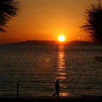 駿河湾の夕陽7