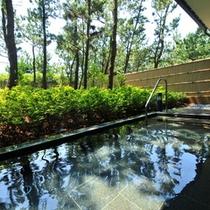 熱海直送の温泉が愉しめる大浴場からつながる【露天風呂】を新設!大好評です!