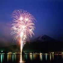 河口湖 冬花火!全客室から鑑賞OK!例年1月~2月の土日開催。