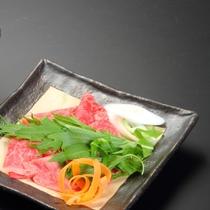 【甲州牛しゃぶしゃぶ】山梨の誇る甲州牛をしゃぶしゃぶで食す!ポン酢・胡麻ダレはお好みで♪(2)
