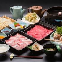 牛&那須三元豚のすき焼き食べ放題