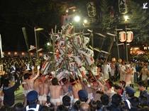 魚吹八幡神社 提灯練り(新在家)