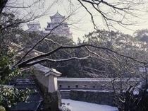 姫路城、冬(横)