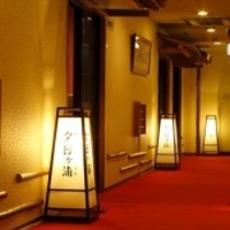 三階廊下(ライトアップ)