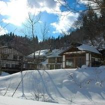 冬の貝掛温泉