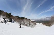 裏磐梯スキー場ゲレンデトップ