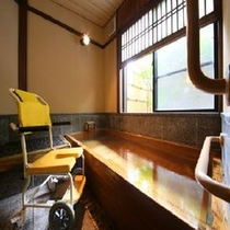 ◆家族風呂【さくらの湯】車椅子でも脱衣所まで御入り頂けます。※イメージ