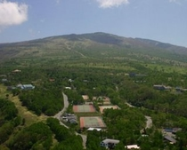 菅平峰の原高原の空撮