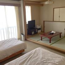*【洋室ツイン】3畳の和室とセットになった和洋室タイプのお部屋(ツインの部屋種は選べません)