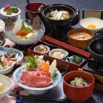 ■蔵王牛すき焼き膳/味わい深い蔵王牛のすき焼きがメインの和食膳 ※イメージ